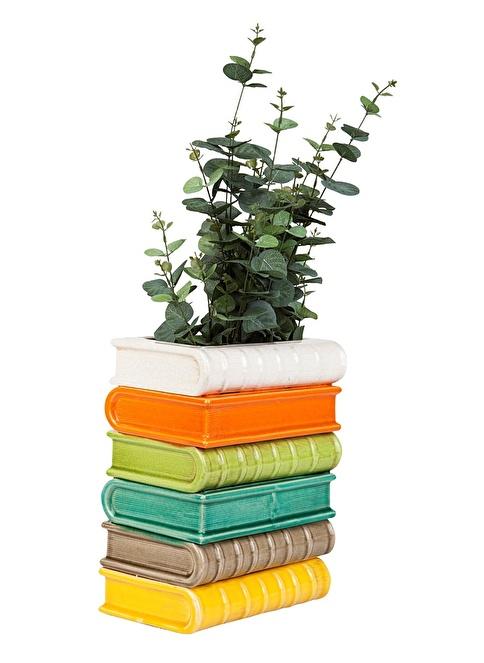 Love Letter Yığılmış Kitaplar Vazo Renkli